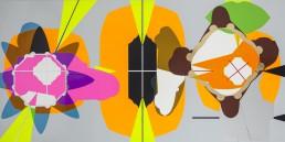 Autodrome, 1995, h 81 x b 162 cm, collage of adhesive film on wood panel-by-International-Contemporary-visual-artist-Patrick-Koster-based-in-Amsterdam-collage van plakfilm op paneel (hout) door internationaal hedendaags beeldend kunstenaar Patrick Koster-collage of adhesive film on wood panel by international contemporary visual artist Patrick Koster-国際的な現代ビジュアルアーティストPatrick Kosterによる木製パネルの接着フィルムのコラージュ-国际当代视觉艺术家Patrick Koster在木板上粘贴胶粘剂的拼贴画-Collage aus Klebefolie auf Holztafel des internationalen zeitgenössischen bildenden Künstlers Patrick Koster-Collage de película adhesiva sobre panel de madera por el artista visual contemporáneo internacional Patrick Koster-collage de film adhésif sur panneau de bois par l'artiste visuel contemporain international Patrick Koster-коллаж из клейкой пленки на деревянной панели международного современного визуального художника Патрика Костера