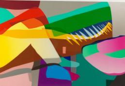 Back-seat driver, 2003, h 84 cm x w 125 cm, collage of adhesive film on drawing polyester-collage van plakplastic op tekenpolyester door internationaal hedendaags beeldend kunstenaar Patrick Koster-Collage aus Klebefolie auf Zeichnung Polyester des internationalen zeitgenössischen bildenden Künstlers Patrick Koster-collage of adhesive film on drawing polyester-collage de film adhésif sur dessin polyester par l'artiste visuel contemporain international Patrick Koster-Collage de película adhesiva sobre dibujo de poliéster por el artista visual contemporáneo internacional Patrick Koster-国际当代视觉艺术家帕特里克·科斯特(Patrick Koster)在聚酯纤维上绘制粘合膜的拼贴画 - 国際的な現代ビジュアルアーティストPatrick Kosterによるポリエステルの描画に関する粘着フィルムのコラージュ