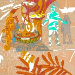 Shadow Flag Schaduwvlag 1-series #2-h 100 cm x b 100 cm-2015,Shadow Flag I, series #2, 2015, h 100 cm x w 100 cm, collage of adhesive film on drawing polyester mounted on a lightbox-collage de film adhésif sur dessin polyester monté sur une lightbox-par-international-contemporain-plasticien-artiste-Patrick-Koster-basé-à-Amsterdam-Pays-Bas-Collage de película adhesiva sobre dibujo de poliéster montado en una caja de luz-por-artista-internacional-contemporánea-visual-Patrick-Koster-con sede en Amsterdam-Países Bajos-由国际当代视觉艺术家帕特里克·科斯特(Patrick-Koster)驻阿姆斯特丹的国际灯箱上的聚酯薄膜上的粘合膜拼贴画-ライトボックスに取り付けられたポリエステルを描画する際の接着フィルムのコラージュ-国際コンテンポラリー-ビジュアルアーティスト-パトリック-コスターに基づく-アムステルダム-オランダ
