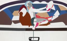 Thriller, 2010, h 122 cm x w 200 cm, collage of adhesive film on drawing polyester-collage van plakplastic op tekenpolyester door internationaal hedendaags beeldend kunstenaar Patrick Koster-Collage aus Klebefolie auf Zeichnung Polyester des internationalen zeitgenössischen bildenden Künstlers Patrick Koster-collage of adhesive film on drawing polyester-collage de film adhésif sur dessin polyester par l'artiste visuel contemporain international Patrick Koster-Collage de película adhesiva sobre dibujo de poliéster por el artista visual contemporáneo internacional Patrick Koster-国际当代视觉艺术家帕特里克·科斯特(Patrick Koster)在聚酯纤维上绘制粘合膜的拼贴画 - 国際的な現代ビジュアルアーティストPatrick Kosterによるポリエステルの描画に関する粘着フィルムのコラージュ